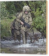 Welsh Guards Training Wood Print