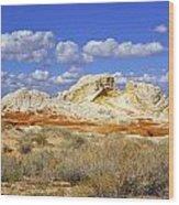 White Pocket Utah Landscape Wood Print