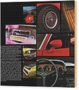 '70 Mustang Options Wood Print