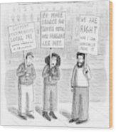 New Yorker December 3rd, 2007 Wood Print