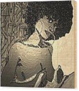 70s Chic Sepia Wood Print