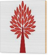 Art Tree Silhouette Wood Print