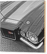 71 Camaro Z28 In Black And White Wood Print
