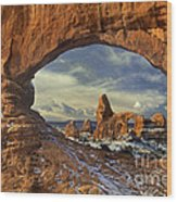 714000087 Turret Arch Arches National Park Wood Print