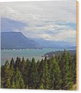 749p Columbia Lake Canada Wood Print