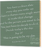 79- Brendon Burchard  Wood Print