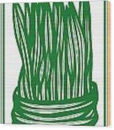 Hassenplug Plant Leaves Green White Wood Print