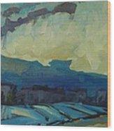 7am Snowsquall Wood Print