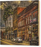 7th Avenue Wood Print by Marvin Spates
