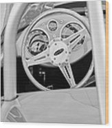 1959 Devin Ss Steering Wheel Wood Print