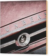 1965 Sunbeam Tiger Grille Emblem Wood Print