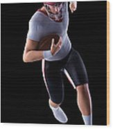 American Football Player Wood Print