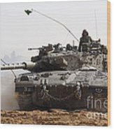 An Israel Defense Force Merkava Mark II Wood Print