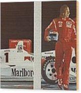 Automobile Racing Wood Print