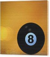 8 Ball Wood Print