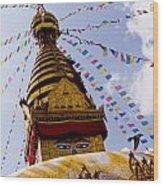 Bodhnath Stupa In Nepal Wood Print