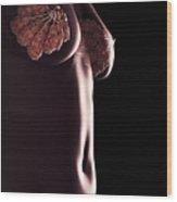 Breast Anatomy Wood Print