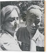 British-born Sculptress Completes Bust Of President Nyerere Wood Print