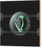 Celtic Harp Wood Print