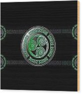 Celtic Triskele Wood Print