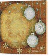 Christmas Background Wood Print
