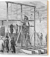 Execution Of Conspirators Wood Print