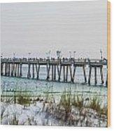 Florida Beach Scene Wood Print