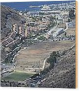 Fly Over Gran Canaria Wood Print