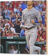 Kansas City Royals V St. Louis Cardinals Wood Print