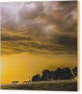 Late Afternoon Nebraska Thunderstorms Wood Print