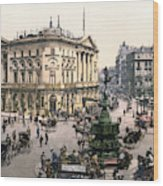 London Piccadilly Circus Wood Print