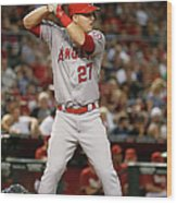 Los Angeles Angels Of Anaheim V Arizona 8 Wood Print