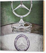 Mercedes Benz Hood Ornament Wood Print