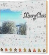 Christmas Card 24 Wood Print
