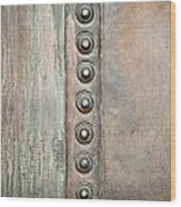 Metal Background Wood Print by Tom Gowanlock