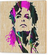 Michael Jackson Painting Wood Print