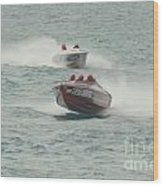 Port Huron Sarnia International Offshore Powerboat Race Wood Print
