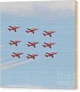 Red Arrows Wood Print