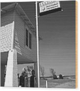Route 66 - Lucille's Gas Station Wood Print