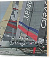 San Francisco Sailboat Racing Wood Print