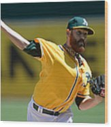 Seattle Mariners V Oakland Athletics 8 Wood Print