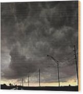 Severe Warned Nebraska Storm Cells Wood Print