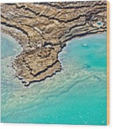 Sinkholes In Northern Dead Sea Area Wood Print by Ofir Ben Tov