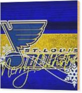 St Louis Blues Wood Print