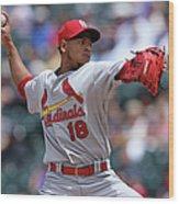 St Louis Cardinals V Colorado Rockies Wood Print