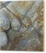 Stones From Verzasca Valley Wood Print