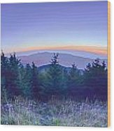 Top Of Mount Mitchell Before Sunset Wood Print