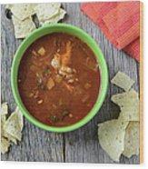 Tortilla Soup Wood Print