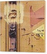 Train Art Abstract Wood Print