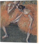 Two Dancers Wood Print